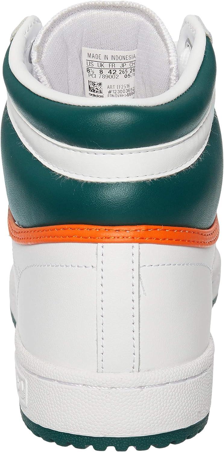 Adidas Top Ten Hi White Green Orange Blanc