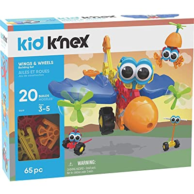 K'NEX Kid Wings & Wheels Building Set - 65 Pieces - Ages 3+ - Preschool Educational Toy: Toys & Games