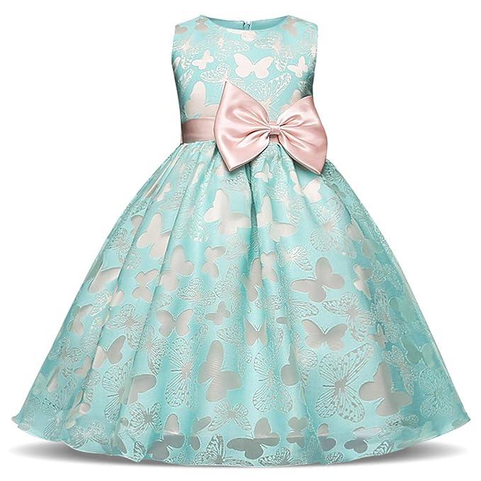 Amazon.com: Vestido de niña de flores para boda, fiesta de ...