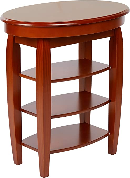Greenhurst Swivel Top Side Table In A Oak Finish With A Storage Compartment Amazon Co Uk Kitchen Home