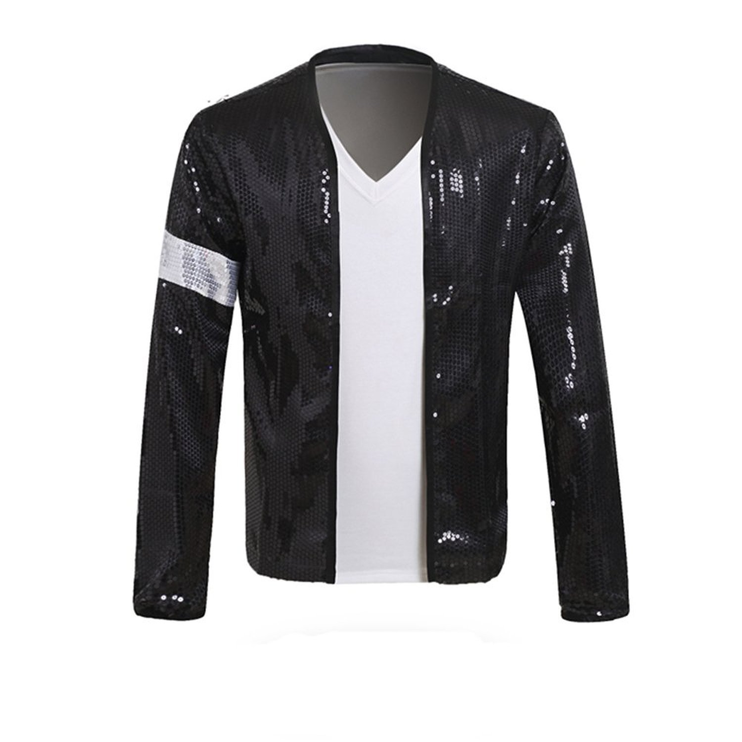 Xfang MJ Billie Jean Jacket Costume with Glove (L-Height:175cm-175cm)