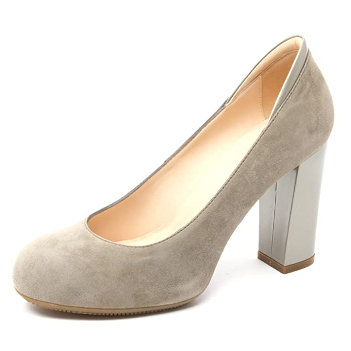 B4150 decollete donna HOGAN H189 scarpe verde oliva tacco pelle shoe woman