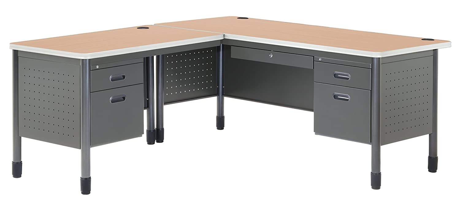 Amazon.com: OFM Mesa Series L-Shaped Steel Office Desk with ...