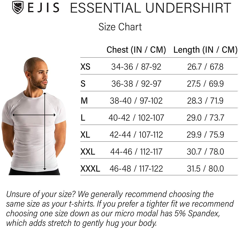 Crew Neck Ejis Essential Undershirt | Anti-Odor Micro Modal 3-Pack