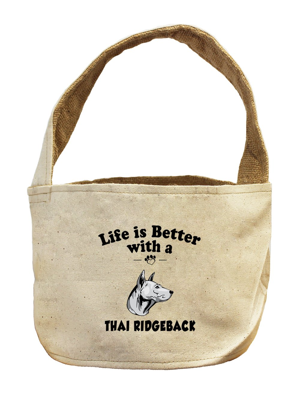 Style in Print Canvas/Burlap Storage Basket Life Is Better Thai Ridgeback Dog by Style in Print