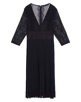 meilleur site web 7e53a 96cc7 Zara Femme Robe plissée avec Dentelle 8741/031 (XX-Large ...