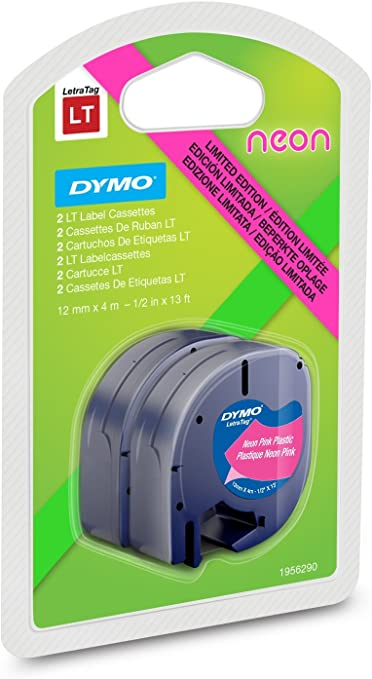 Dymo Letratag - Etiquetadora, color Assorted Neon Colours: Amazon ...