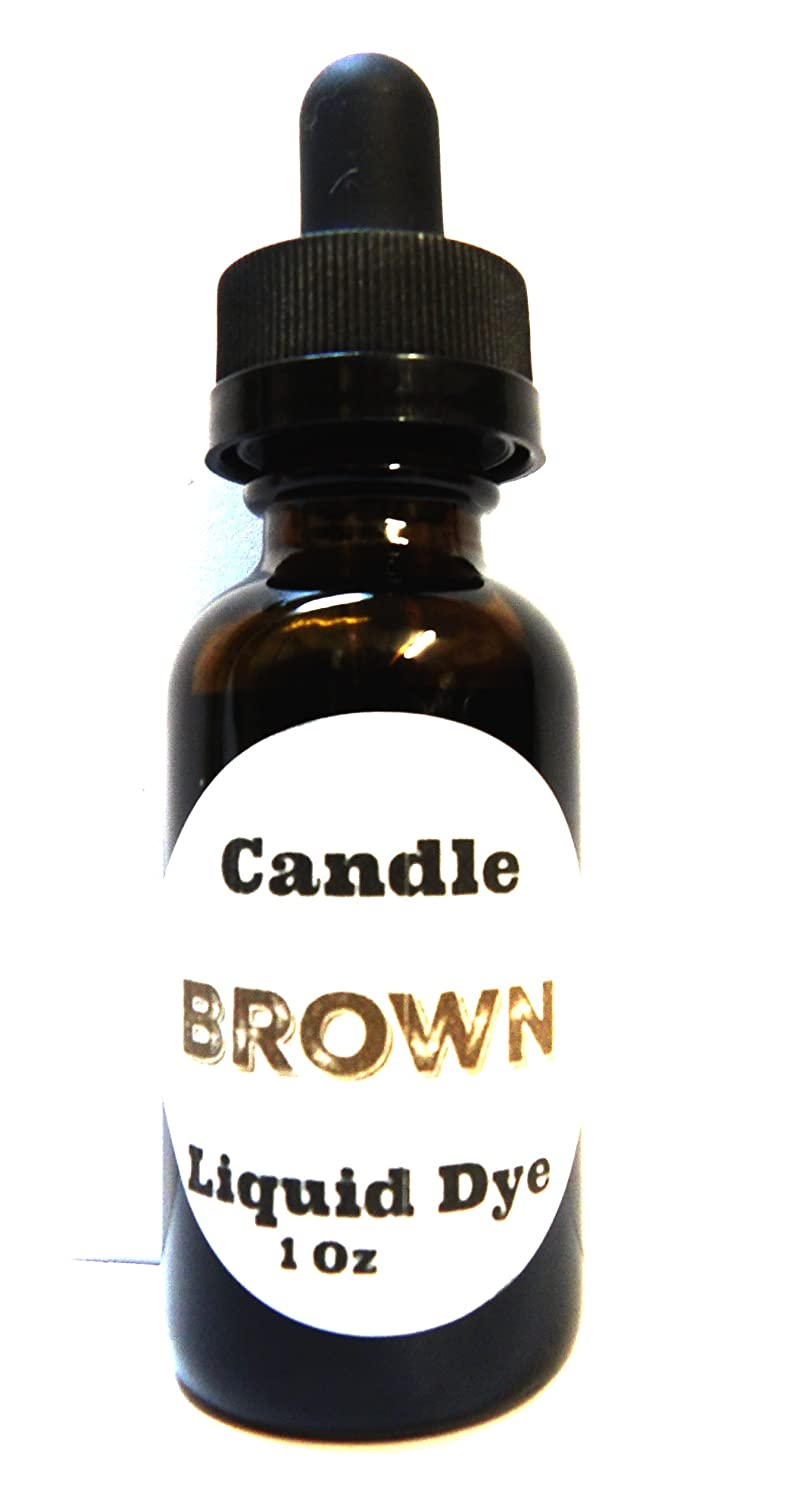 Liquid Candle Dye (Brown) - 1oz Glass Dropper Bottle with Childproof Lid Premium Dye for All Waxes Exp Soy Wax Mels Candles & More 4336840704