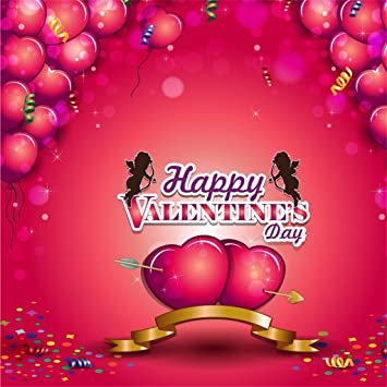 Aofoto 8x8ft Happy Valentine S Day Background For Amazon Co Uk