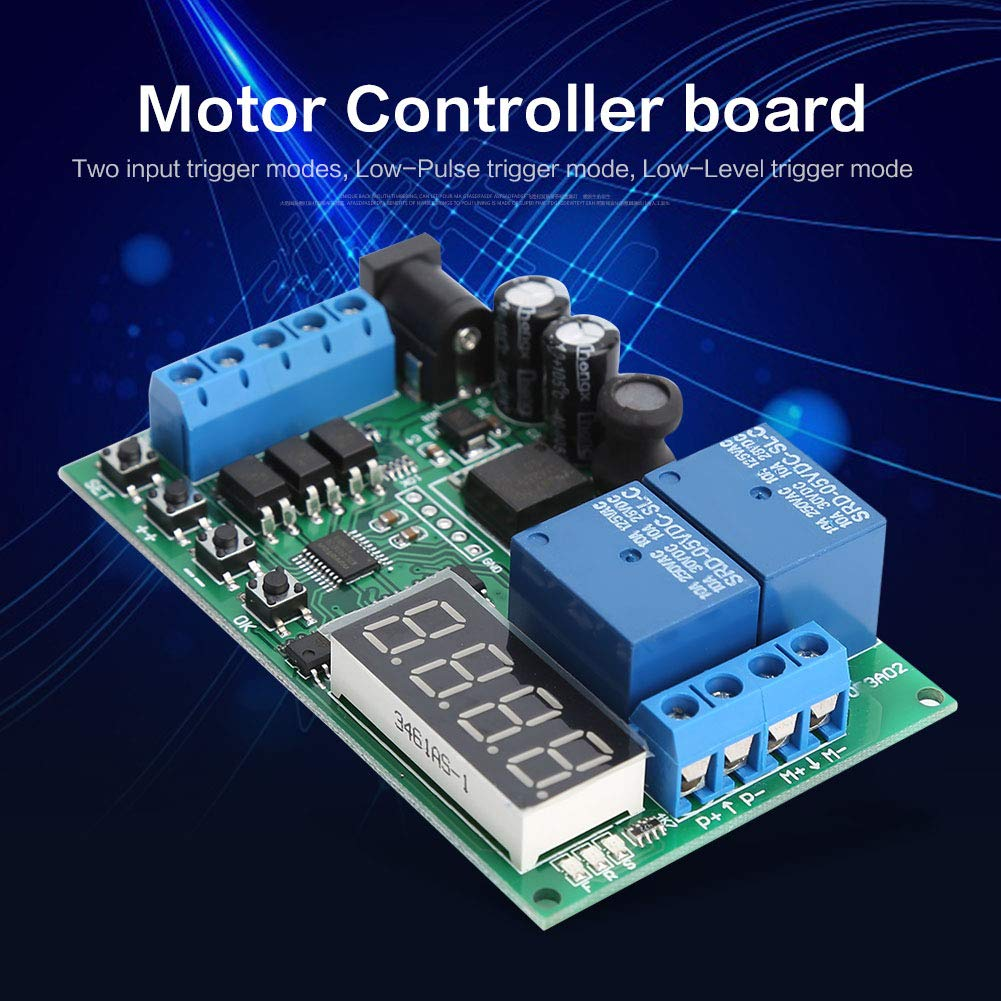 24V Motor Forward//Reverse Controller Timing Delay Time Cycles Relay Motor Controller Board 5V