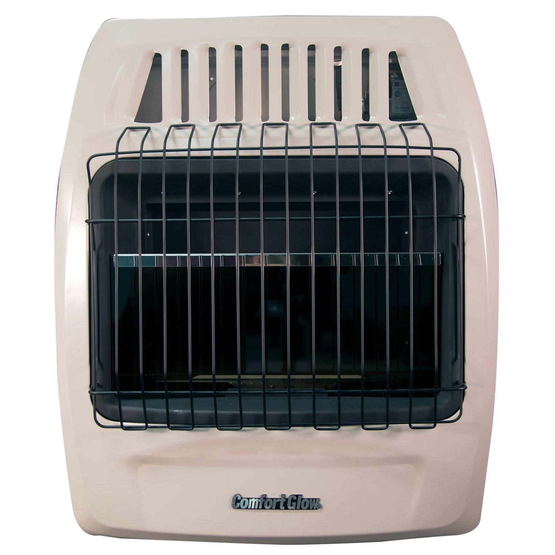 Comfort Glow KWD259 20,000 Btu Blue Flame Propane /& Natural Gas Vent-Free Wall Heater.