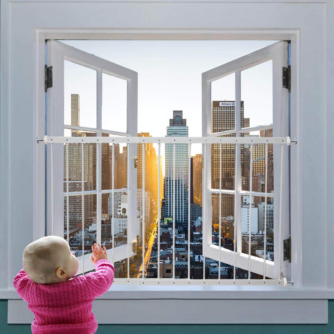 Amazon Com Fairy Baby Window Guards For Children Adjustable Wide Child Safety Window Guard Prevents Accidental Falls Home Security Childproof Interior Bar Guard For Windows Wide 31 49 36 22 1 Panel Baby