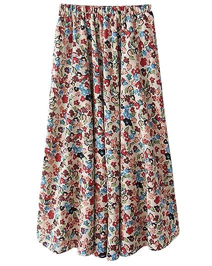 Faldas para Mujer En Vacaciones Maxi Fiesta Plisadas La Playa Moda ...
