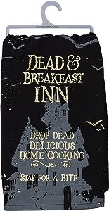 Primitives by Kathy Halloween Dish Towel, 28 x 28-Inch, Dead & Breakfast