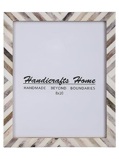 Amazon Com Handicrafts Home 8x10 Picture Photo Frame Chevron