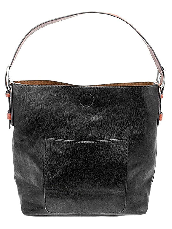 Black With Cedar Handle Joy Susan Classic Hobo Handbag