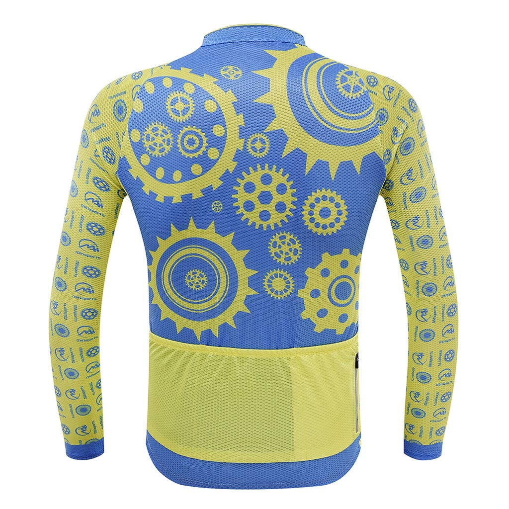 Xiaoping Ropa de Ciclismo, Ciclismo, Traje de de Traje Manga Larga, Cojín Transpirable, Ropa de Bicicleta de Secado rápido, Equipo Deportivo (Color : 1, Size : L) 54286d