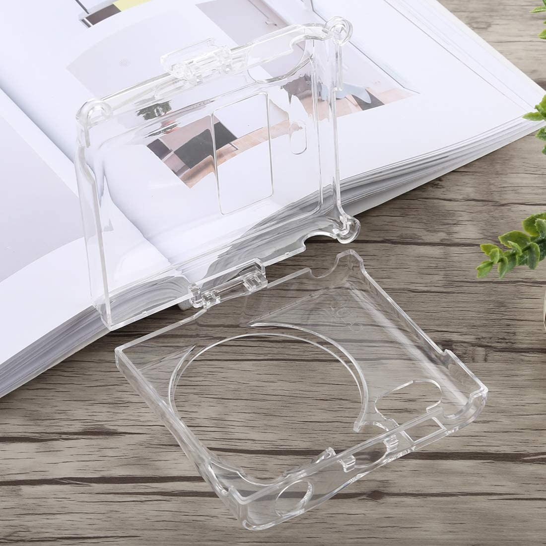 YANTAIANJANE Camera Accessories Protective Crystal Shell Case with Strap for FUJIFILM instax Mini 90 Color : Transparent Transparent