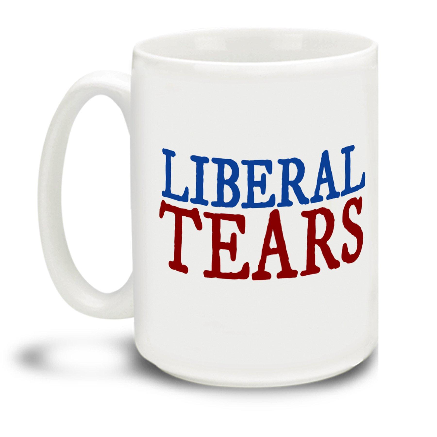 Liberal Tears Donald Trump Make America Great Again 15 Ounce Coffee Mug