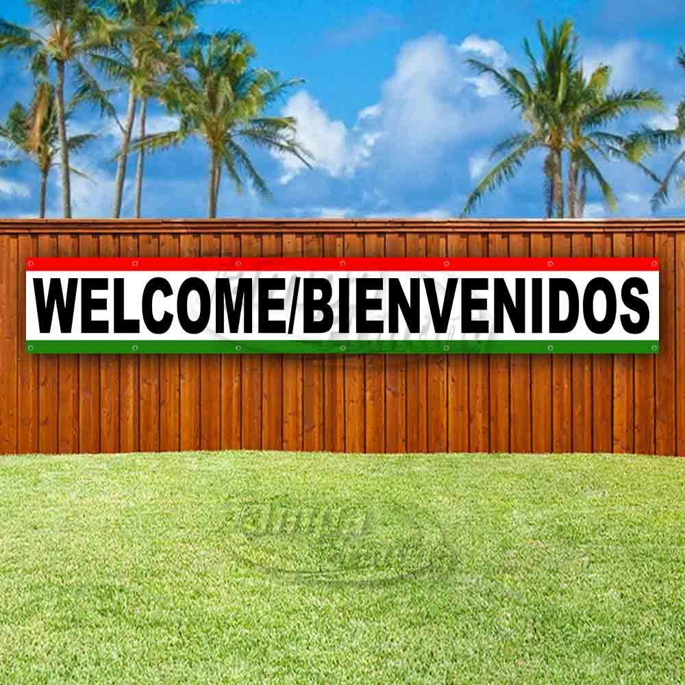 Amazon.com: Welcome/BIENVENIDOS - Cartel de vinilo extra ...