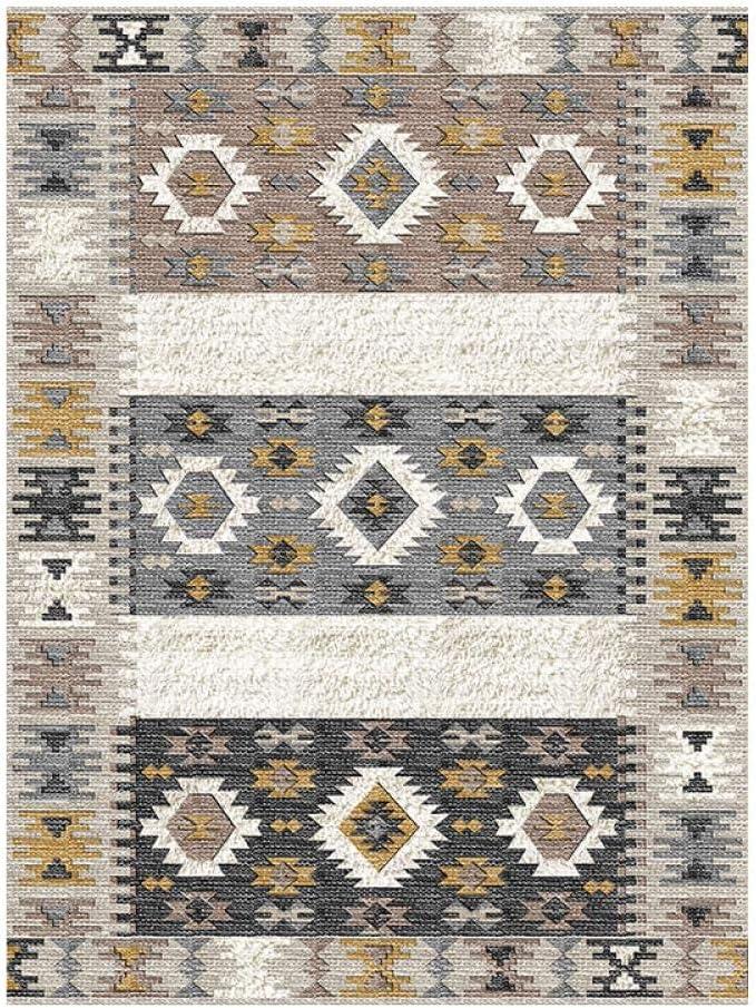 SXcarpet Tapis de Style marocain pour Salon Maison Chambre Tapis canap/é Table Basse Tapis Boh/ême Salle d/étude Tapis de Sol Tapis Vintage,E,80X160CM