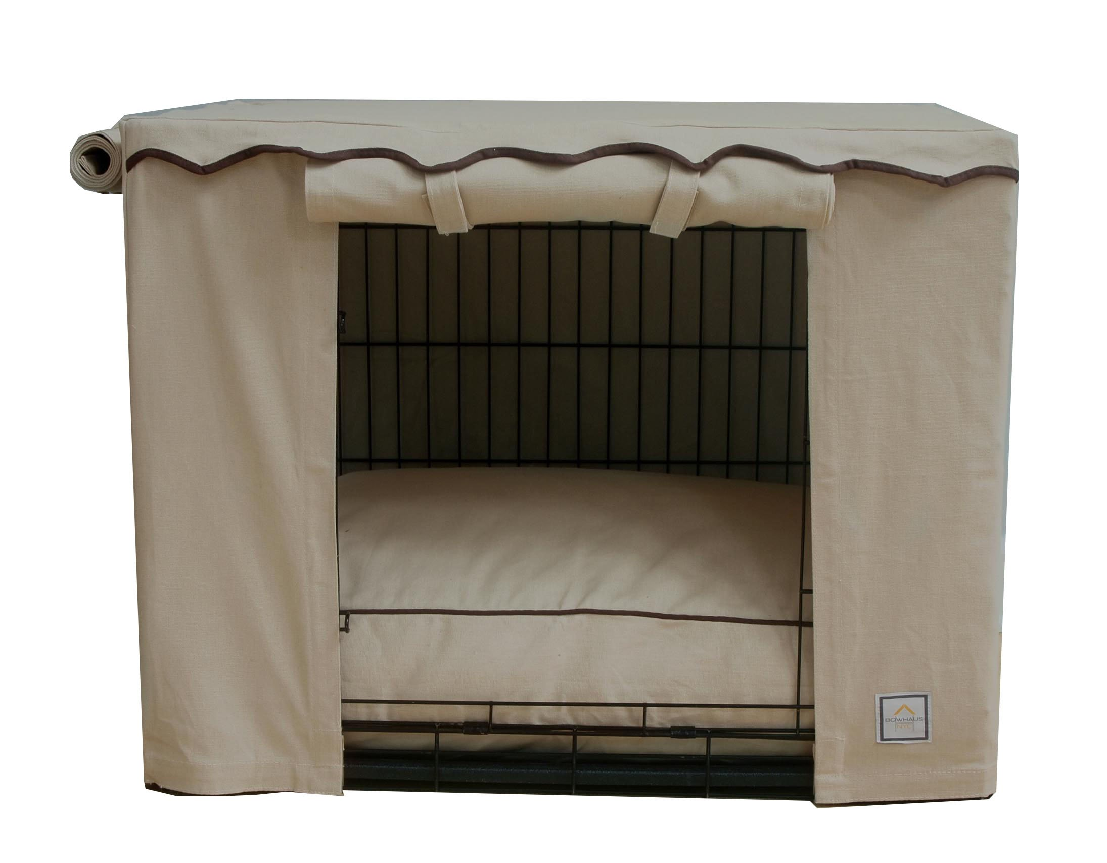 BowhausNYC Stone Beige Crate Cover, Tan/Brown