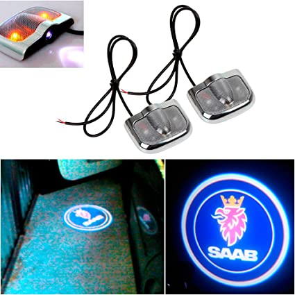 Led Per Auto Tuning.Amazon Com Champled For Saab Laser Projector Logo