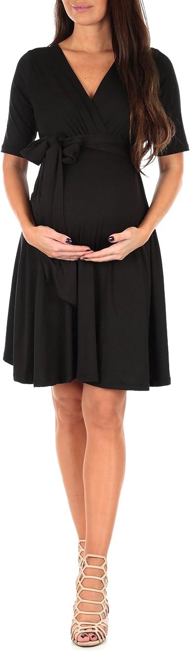 Details about  /BNWT Mamalicious Maternity Dress Knit Midi Dress Black Stretch QUALITY