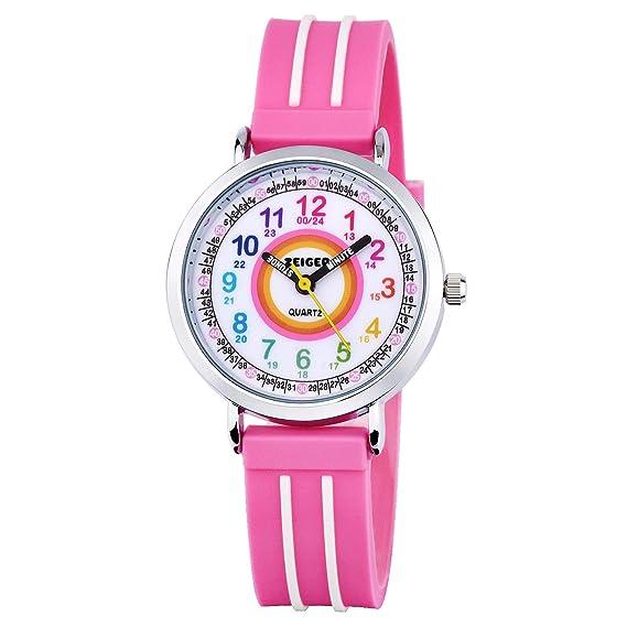 Zeiger - Reloj Digital para niños con diseño Deportivo, para niños y niñas, para Estudiantes, para Aprender la Hora: Amazon.es: Relojes