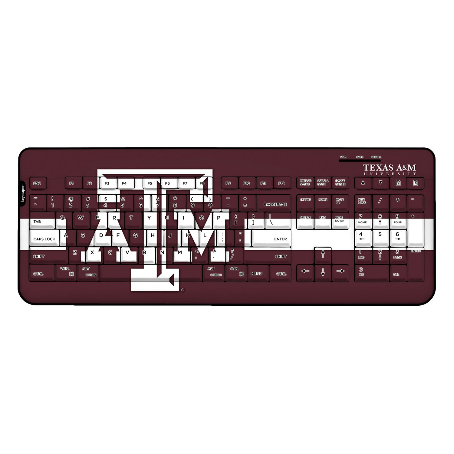 Texas A&M Aggies Wired Keyboard NCAA by Keyscaper