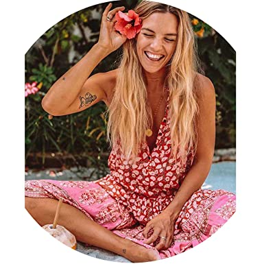 45f1b0e846dc3 Vintage Inspired Boho Dress Women red Coral Summer Dress Button Up ...
