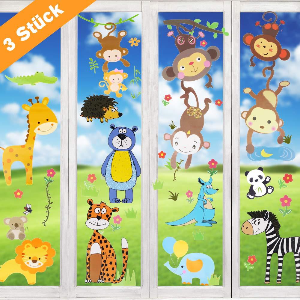 Wimaha Fensterbilder Autos Raumschiff Tiere Fensterfolien Fenstersticker f/ür Wohnzimmer Schlafzimmer Kinderzimmer,30x40cm