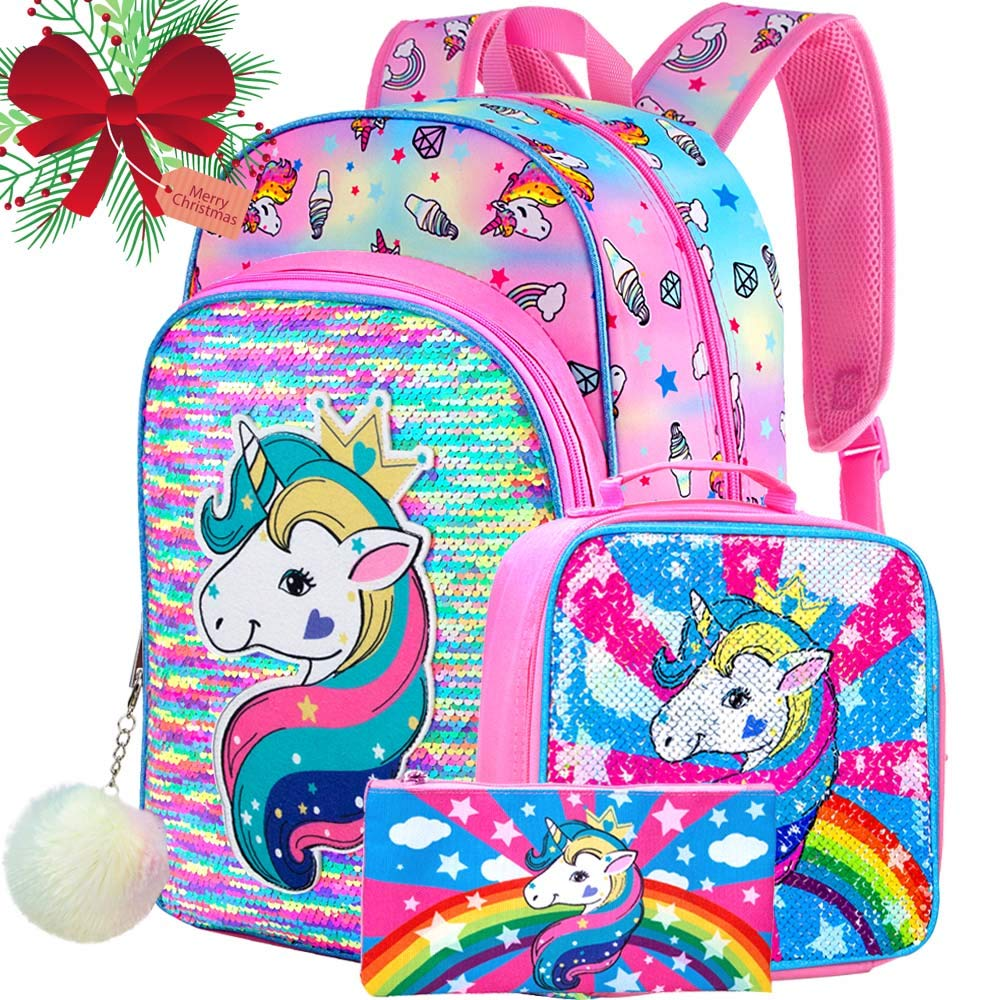 Details about  /Kid Backpack Girls School Bag Small Fashion Unicorn Backpack for Kids Children