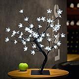 Dreamyth 48LED Rice Cherry Blossom Desk Top Bonsai Tree Light Lamp