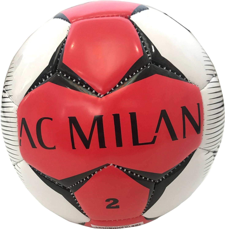 Mini balón fútbol Milan de piel tamaño 2 Producto Oficial: Amazon ...