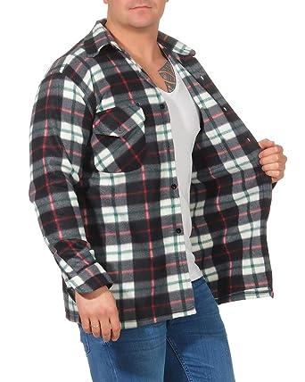 Camisa térmica para Hombre Chaqueta de leñador a Cuadros Chaqueta de Trabajo Chaqueta de Franela Chaqueta a Cuadros cálida y Suave