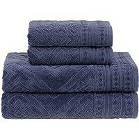 Jogo de Toalhas Gigante, Concórdia, 4 Peças (2 toalhas de rosto 48x90cm, 2 toalhas de banho 90x150cm), Azul, Buddemeyer