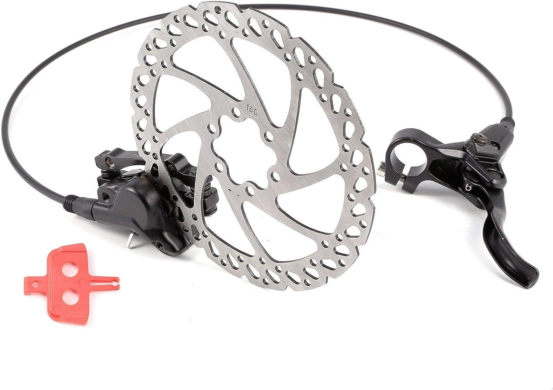 Hamimelon Kit Freno de Disco Hidráulico 160mm para Bicicleta de Montaña BMX MTB