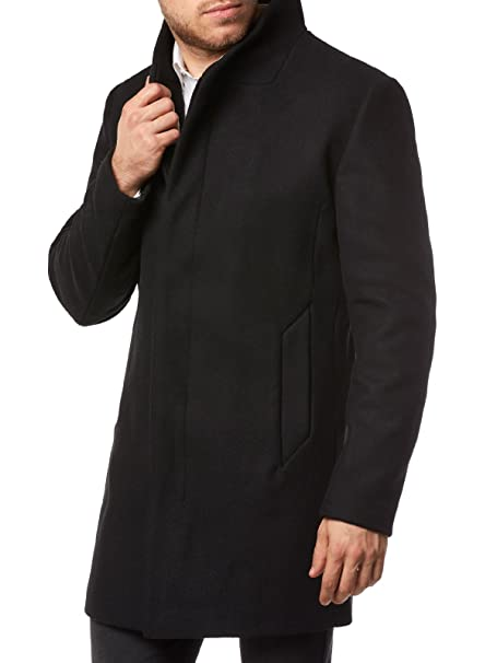 JACK & JONES PREMIUM Jprgotham Wool Jacket STS, Chaqueta para Hombre, Negro (Black