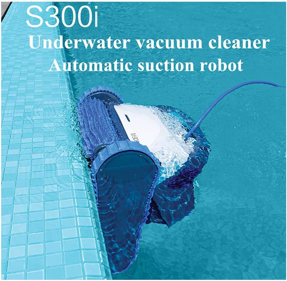 AHELT-J Automatic Robotic Pool, S300i Vacuum Cleaner Automatic Cleaning Equipment Swimming Pool Robot 18 Meters Cable Professional Cleaner Equipment,A