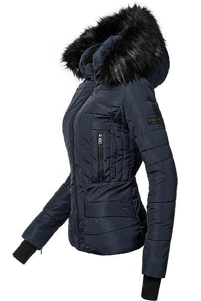 361758c0dfdb4 Navahoo Adele Chaqueta de Invierno para Mujer con Capucha de Pelo sintético  Negro 11 Colores XS-XL  Amazon.es  Ropa y accesorios
