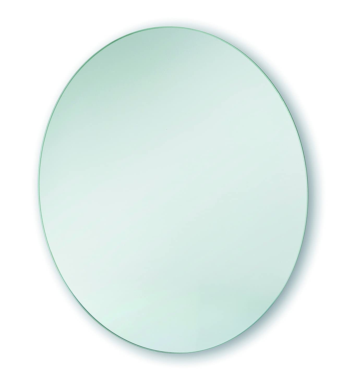 Bathroom Mantel Hall Round Square Cosmetic Shaving Mounted Mirror Frosted (Round Plain 40cm)