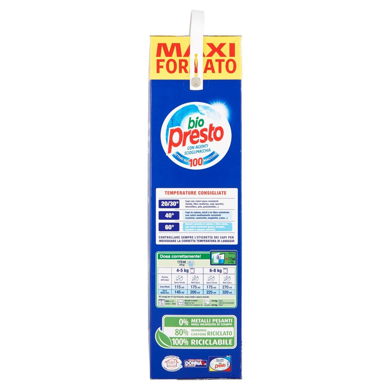 Bio Presto - Detergente 4 Agenti Scioglimaccia (4 Agentes Quitamanchas), tamaño Maxi - 4400 g.: Amazon.es: Salud y cuidado personal