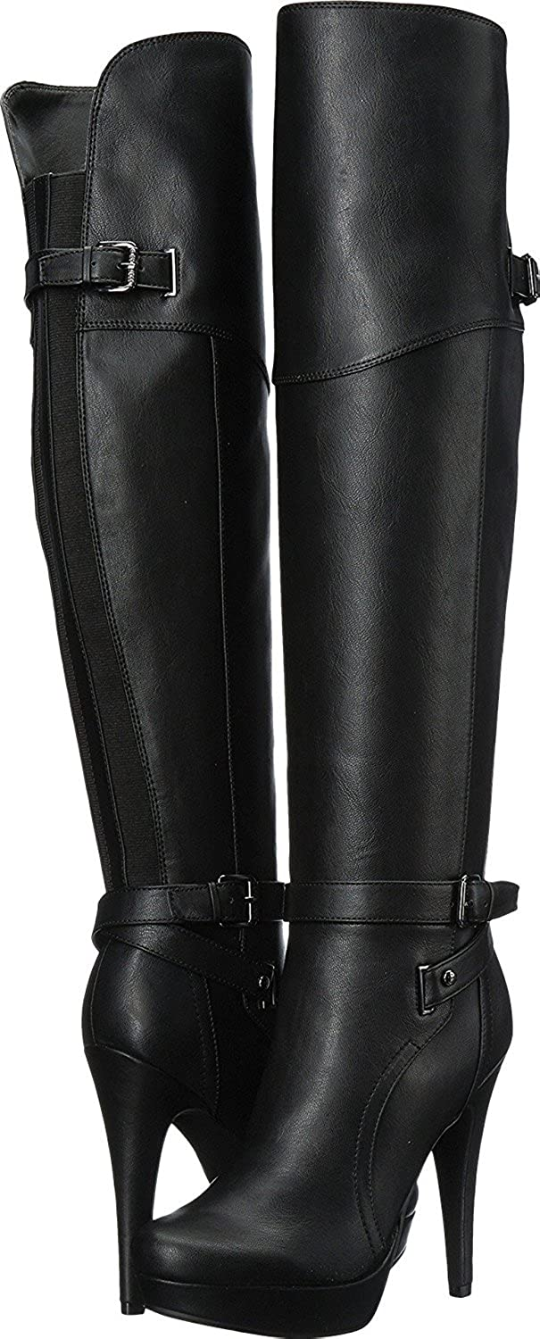 b9cb263124b66 G by GUESS Women's Dayle Knee High Boots Black Black Size: 11 B(M ...
