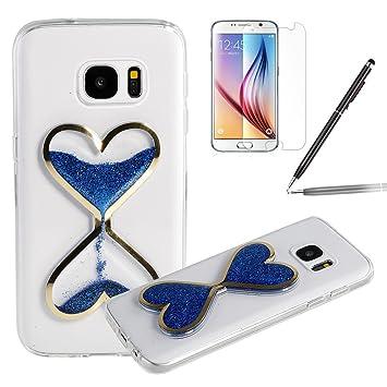 99fd1b73230 Samsung Galaxy S7 Funda, Samsung Galaxy S7 Case ,Felfy Fluido Liquido  Belleza Arena Movediza Amor en ...