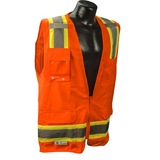 52bf8139e5a Amazon.com  Radians SV6 Two Tone Surveyor CL-2 Safety Vest  Home ...