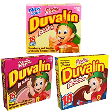 DUVALIN candies (18 pieces in all 3 boxes)