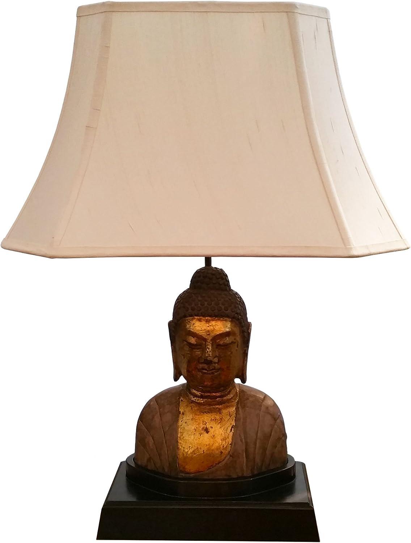 Safavieh Lighting Collection Serenity Buddha Teal 31-inch Table Lamp Set of 2