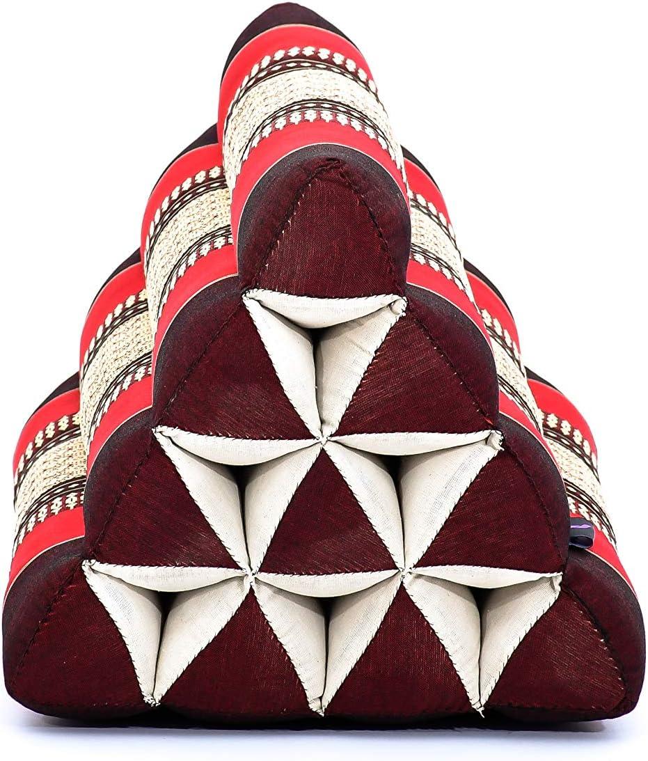 50x33x33 cm black Kapok Leewadee Set of 2 Triangle Cushion Reading Pillow Backrest TV Pillow Eco-Friendly Organic and Natural