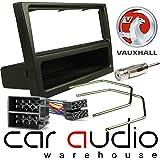 T1 Audio T1-24VX01 PACK - Vauxhall Corsa 2000 Onwards Complete Car Stereo Facia Fitting Kit. Black Single Din Facia, Release Keys, ISO Loom & Aerial Adaptor (Black Finish Panel)